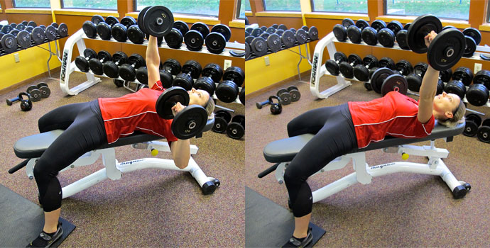 Dumbbell Alternating Arm Chest Press