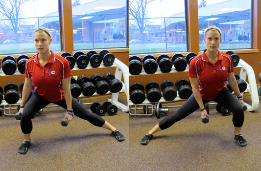 Dumbbell Lateral Lunges